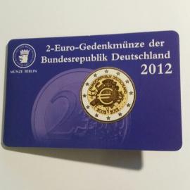 "Duitsland 2 euro 2012  ""10 jaar euro"" A  coincard"