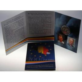 "België 2 Euro 2005 ""Monetaire Unie""  BU in coincard"