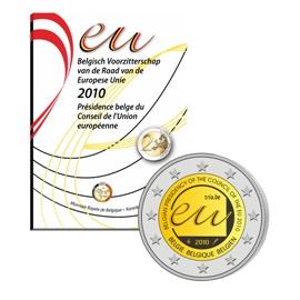 """België 2 Euro 2010 """"Voorzitterschap EU""""  Bu in coincard"""