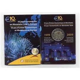 Belgie 2 euro 10 jaar EU 2009 BU in coincard
