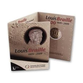 "België 2 Euro ""Braille"" 2009 BU in coincard"