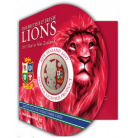 BRITISH AND IRISH LIONS Tour 1 Oz Silver Coin 1$ New Zealand 2017