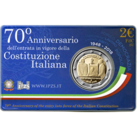 Italie  2 Euro 2018 70 jaar Italiaanse Grondwet in Coincard