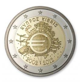 """Cyprus 2 Euro 2012 """"10 jaar Euro"""""""
