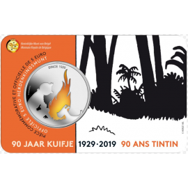 VVK 5 euro herdenkingsmunt België 2019 '90 jaar Kuifje' BU in coincard KLEUR