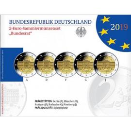 """Duitsland 2 Euro  """"Bundesrat"""" 2019 PROOF set"""