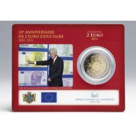 "Luxemburg 2 Euro  2012 ""10 jaar Euro"" in coincard"