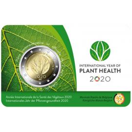 België 2 euro 2020 jaar voor de plantengezondheid Coincard FR/DE