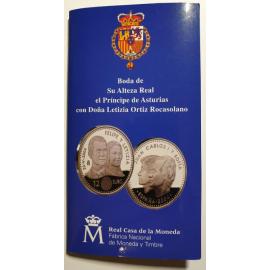 Spanje 12 euro 2004 Huwelijk Kroonprins Blister