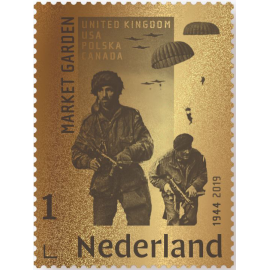 Gouden postzegel Market Garden