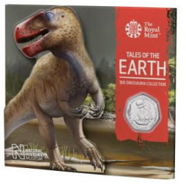 Dinosaurus munt 50 Pence 2020 UK Megalosaurus Blister