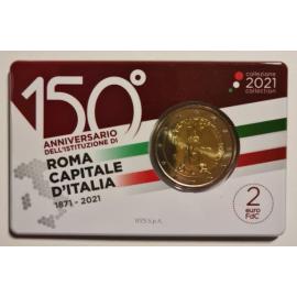 Italië 2 Euro 2021 150 Jaar Hoofdstad Rome Coincard