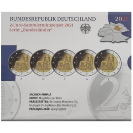 Duitsland 2 Euro  de Dom van Maagdenburg 2021 Proof set