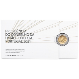 Portugal 2 Euro 2021 Voorzitter EU  PROOF Coincard
