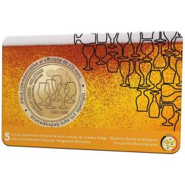 België 2,5 euro 2021 '5 jaar Belgische biercultuur' coincard FR-DU
