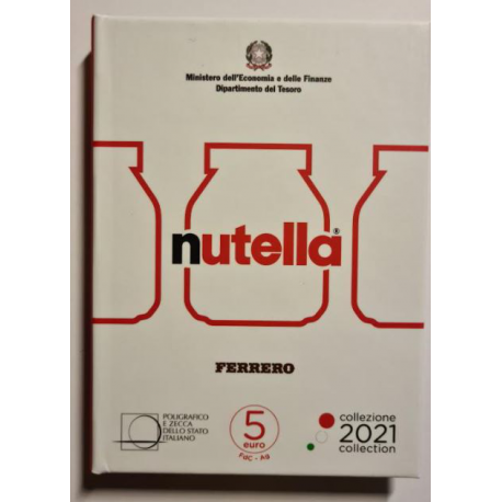 Italië 5 € Italië Excellence 2021 Nutella Wit Blister