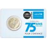 Frankrijk 2 Euro 2021 Unicef  coincard