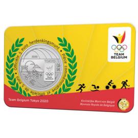 België 5 euro  2021  'Team Belgium' Coincard Relief