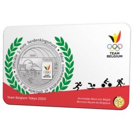 *België 5 euro  2021  'Team Belgium' Coincard Kleur