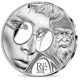 Frankrijk 10 euro 2021 Harry Potter en Perkamentus Zilver Proof