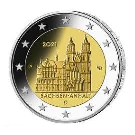 Duitsland 2 Euro de Dom v. Maagdenburg Saksen-Anhalt 2021 willekeurige letter