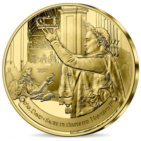Frankrijk 0,25 euro 2021 Napoleon The Coronation Louvre
