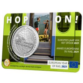 *België 5 euro 2021 'Europees Jaar van het Spoor' Coincard