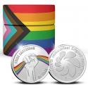 *25 jaar Pride Amsterdam penning Zilver 1 ounce met kleur