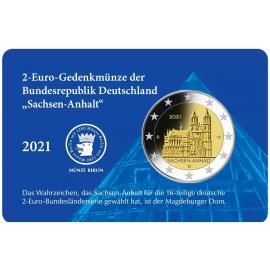 Duitsland 2 Euro Dom v. Maagdenburg 2021 Blauwe coincard