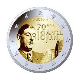 "Frankrijk 2 Euro 2010 ""Charles de Gaulle"""