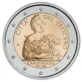 """Vaticaan 2 Euro """"Caravaggio"""" 2021 BU Coincard"""
