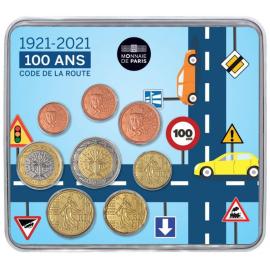 Frankrijk 2021 100 Jaar Franse verkeersborden BU set