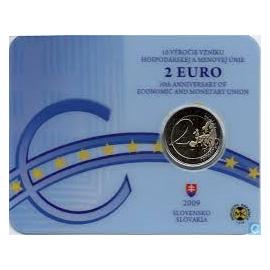 """Coincard Slowakije 2 Euro """"10 Jaar EMU"""" 2009"""