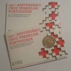 """Portugal 2 Euro 2015 """"Rode Kruis"""" coincard in Proof uitvoering"""