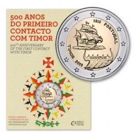 """Portugal 2 Euro """"Timor"""" 2015 BU Coincard"""