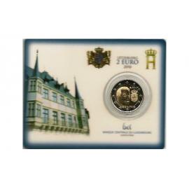 2 Euro Luxemburg 2010 Wapen van Henri BU in coincard