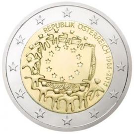 Oostenrijk 2 euro 2015 'Europese Vlag'