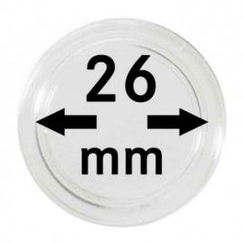 Lindner 2250026 capsule 10 stuks   26 mm  ( voor 2 euromunten )