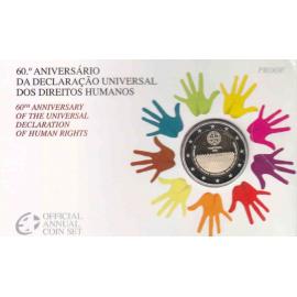 Portugal coincard 2 euro 2008 60 Jaar mensenrechten PROOF