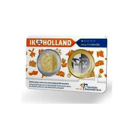 Ik Hou Van Holland 2014 nr 1 Kinderdijk  2 euro BU penning coincard