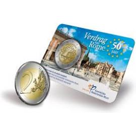 Nederland 2007 Verdrag van Rome 2 euro in Coincard UNC